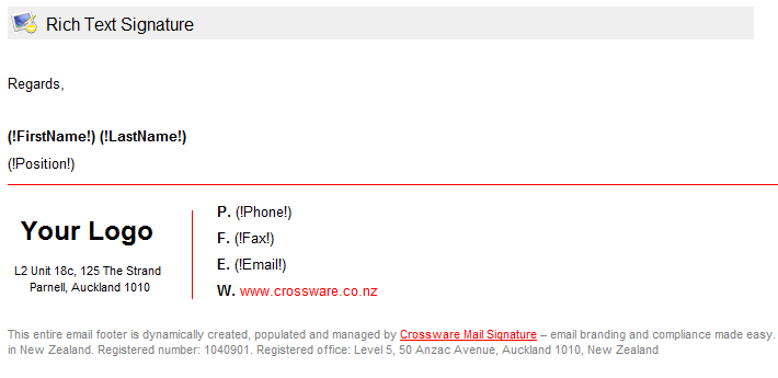 Préférence Crossware Mail Signature: extend your email platform to ensure  KW57